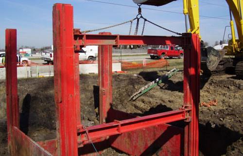 Slide Rail Trench Shoring Systems   Gary Carlson Equipment